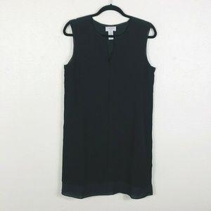 Carmen Marc Valvo Sz Medium Sleeveless Dress Black